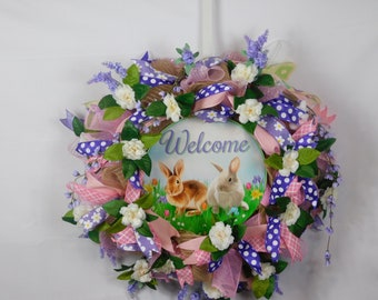 Spring Wreath, Summer Wreath, Easter Wreath, Welcome Wreath, Front Door, Back Door Wreath, Wreath, Wreaths, Everyday Occasion Wreath