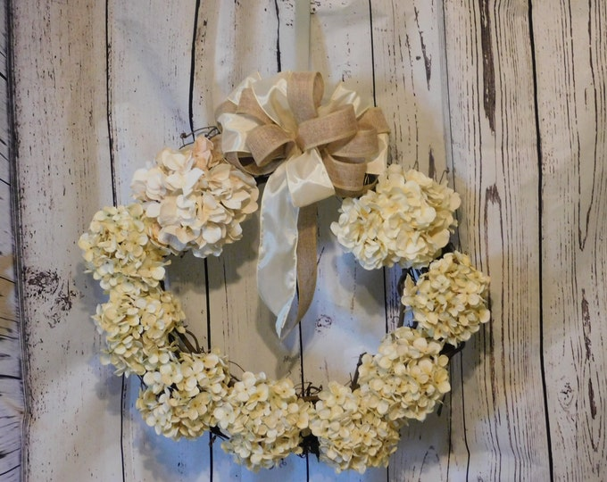 Fall Autumn Wreath , Hydrangea Grapevine Wreath, Front Door Fall Decor, Thanksgiving Wreath, Everyday Wreath, Farmhouse Wreath, Hydrangeas