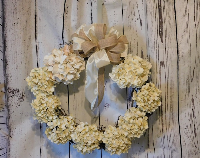 Fall Autumn Wreath , Hydrangea Grapevine Wreath, Front Door Fall Decor, Thanksgiving Wreath, Everyday Wreath, Farmhouse Wreath, Hydrangeas