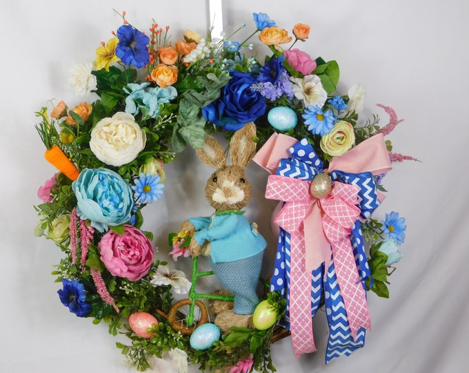 Spring Wreath, Summer Wreath, Easter Wreath, Welcome Wreath, Front Door Wreath, Easter, Bunny, Back Door Wreath, Holiday, Wreaths