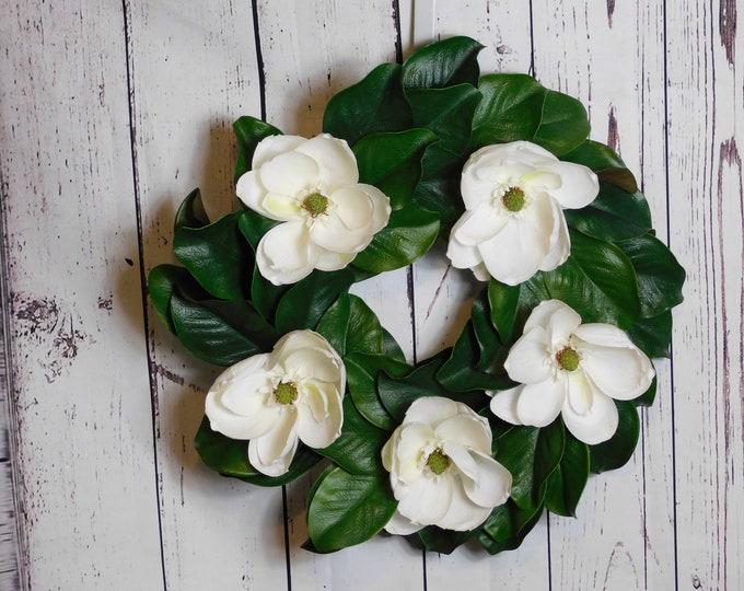 Magnolia Wreath, Spring Wreath Summer Wreath, Front Door Wreath, Back Door Wreath, Wreath, Wreaths