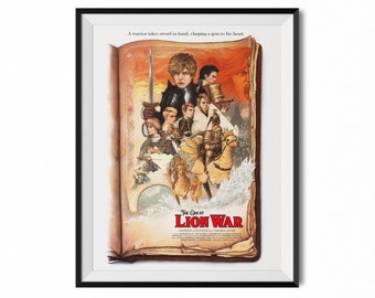 The Lion War | Final Fantasy Tactics Inspired | Movie Posters | Video Game Art | Gaming Decor | Final Fantasy Art | Gamer Gifts | Ramza