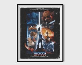 200X Print | Mega Man Inspired | Movie Posters | Video Game Art | Gaming Decor | Mega Man Art | Gamer Gifts | Mega Man X | Megaman | Gifts