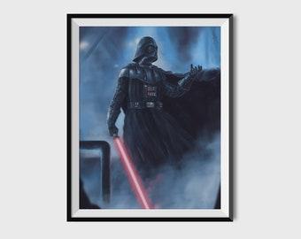 The Sith Lord Print | Star Wars Inspired | Darth Vader | Star Wars Gift | Pop Culture | Wall Decor | Darth Vader Art | Sith | Star Wars Art