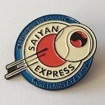 Saiyan Express Pin | Anime Inspired | Futurama | Vegeta Pin | Anime Pins | Geek Gift | Cartoons Pins | Manga Art | Hat Pins | Enamel Pin