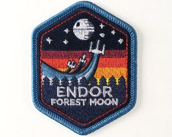 Battle of Endor Mission Patch | Star Wars Inspired | Rebel Alliance | Star Wars Imperial | Death Star | Embroidered Patches