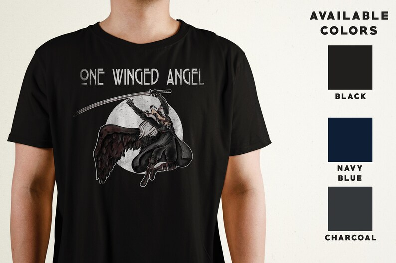 One Winged Angel T-Shirt  Final Fantasy VII Inspired  Video image 0