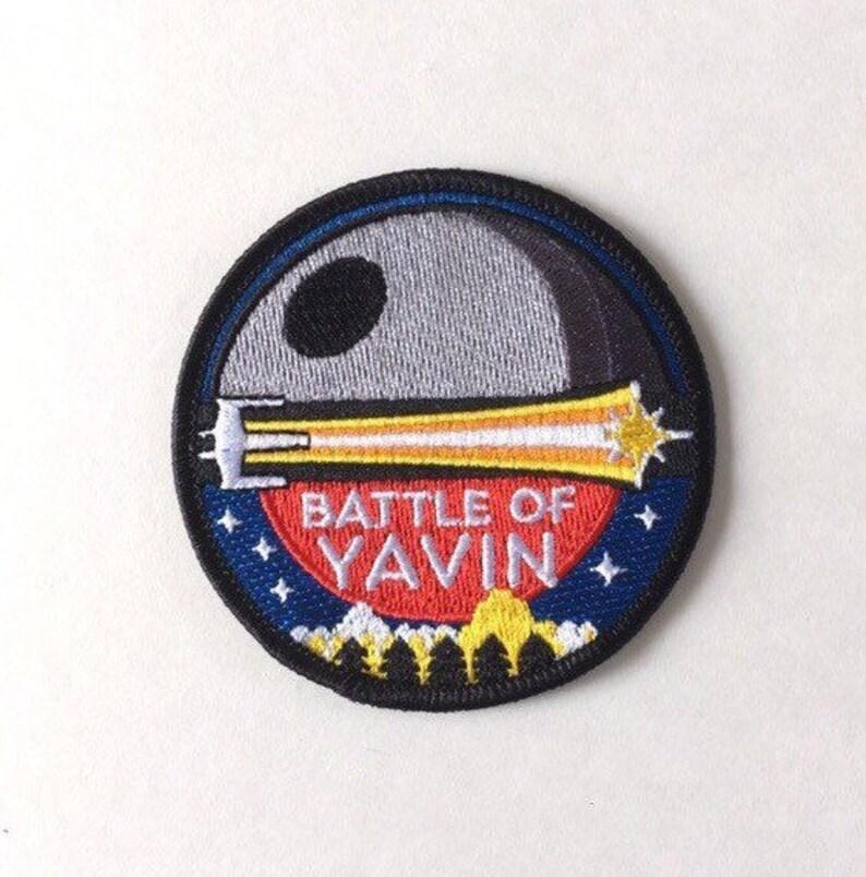 Battle of Yavin Mission Patch  Star Wars Inspired  Rebel image 0