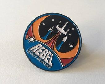 Rebel Flight Academy Pin | Star Wars Inspired | Rebel Alliance Pin | Star Wars Resistance | Star Wars Pin | Luke Skywalker | Enamel Pin