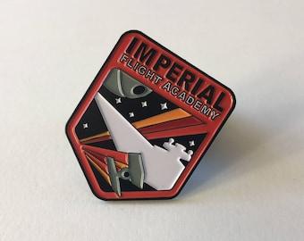 Imperial Flight Academy Pin | Star Wars Inspired | Star Wars Empire Pin | Star Wars Imperial | Kylo Ren | Darth Vader | Enamel Pin