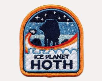 Battle of Hoth Mission Patch | Star Wars Inspired | Rebel Alliance | Star Wars Imperial | Luke Skywalker | Embroidered Patches