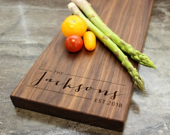 Personalized Cheese Board, Serving Board, Bread Board, Custom, Engraved, Wedding Gift, Housewarming Gift, Anniversary Gift, Engagement #33