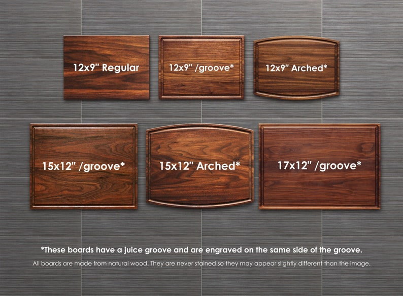 Wedding Closing Gift #17 Personalized Cutting Board Engagement Anniversary Custom Engraved Name in Laurel Wreath Housewarming