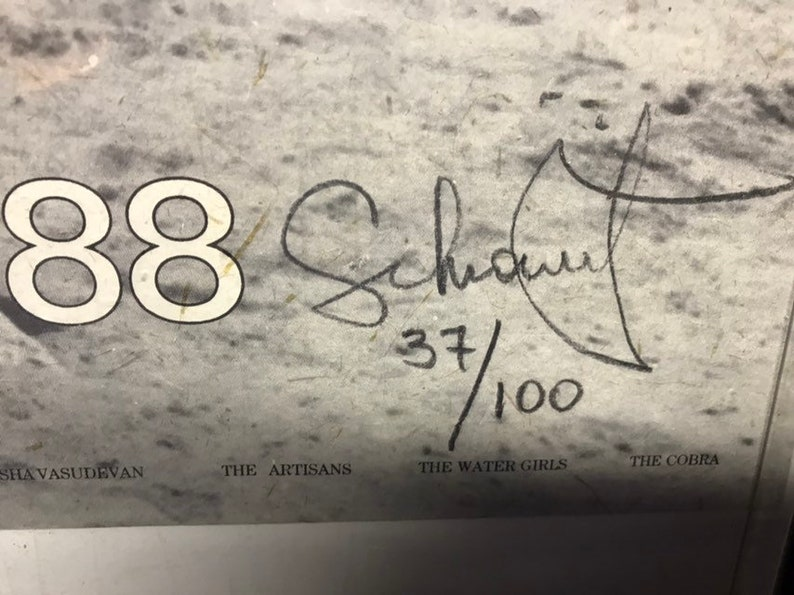 Compare from Ebay... Henry Schiowitz signed exhibition poster from India in 1988...hand made paper