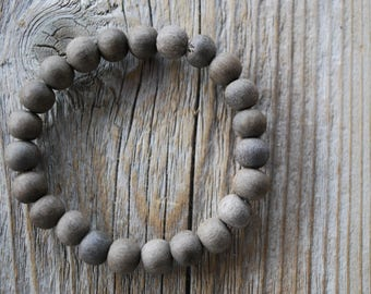 Graywood bracelet yoga bracelet wood bracelet mala beads meditation beads yoga beads yoga jewelry