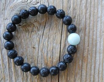 Essential oil diffuser bracelet yoga bracelet mala beads meditation bracelet yoga jewelry lava beads amazonite bracelet