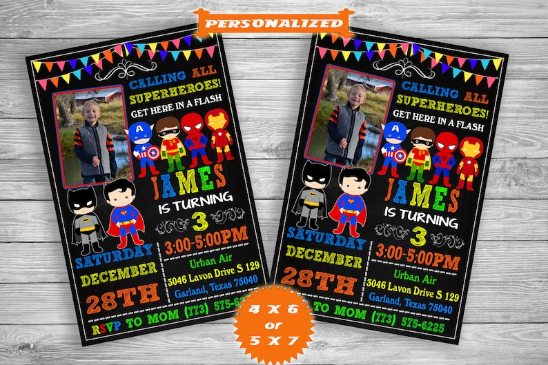 Super Hero Invitation Superhero Templates