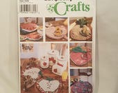 Simplicity Crafts 9484 Sewing Pattern Fruit Theme Kitchen Decor Place Mats Napkins Coasters Canister Cover Casserole Carrier UNCUT FF