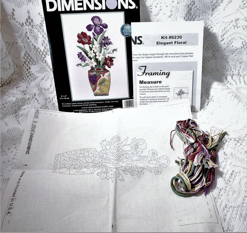 Dimensions Needlecrafts Elegant Floral 6230 Mini Embroidery Floss Kit