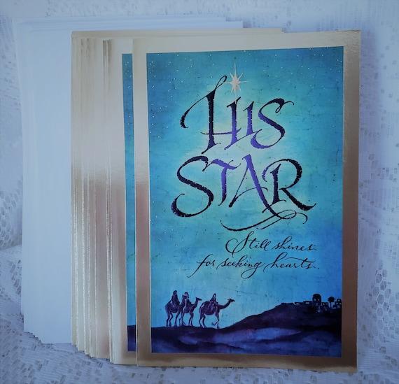 Dayspring Christmas Cards.Dayspring Christmas Greeting Cards His Star Star Of Bethlehem Jerusalem Three Wise Men Scripture Matthew 2 10 Qty 17 Cards Envelopes