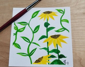 Sunflowers - Watercolor Painting