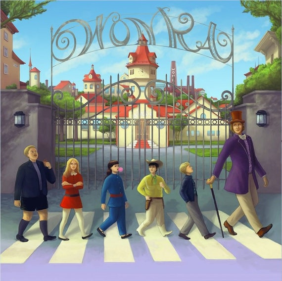Willy Wonka The Chocolate Factory Original Design Limited Signed Movie Poster Inspired By Abby Road Cover End Of Line Poster 12