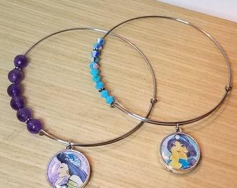Disney Princess Jasmine Double-sided Charm Bracelet/Bangle