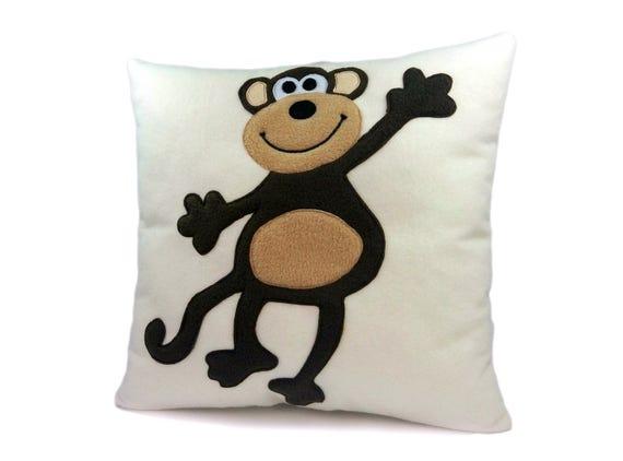 Monkey pillow case | Etsy