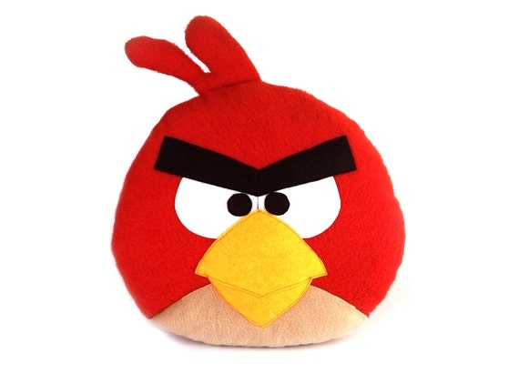Decorative Toy Pillow Angry Birds Red Angry Birds Toy Red Etsy