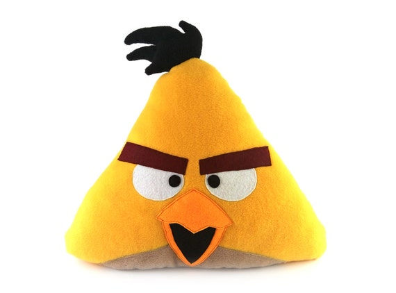 Decorative Toy Pillow Angry Birds Chuck Angry Birds Toy Etsy