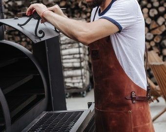 Grilling apron Welding apron Barista apron Leather apron for chef Barbers apron Woodworking apron Men's leather apron Protective clothing