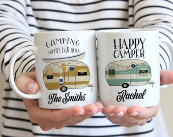 Happy Camper Mug, Camp Mug, Camping Mug, White Camp Mug, Happy Camper Camp Mug, Happy Camper Mug, Camping Mugs, happy camper mugs