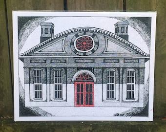 Charleston SC-Charleston Art-Charleston Print-Pointillism-Music Farm-Music Venue-Music Art-Music Artwork-Band Art-Musician Art-Rock and Roll