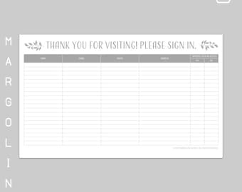 realtor open house sign in sheet template