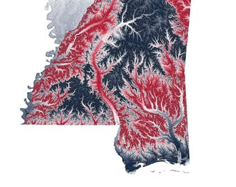 Ole Miss Topographic Map