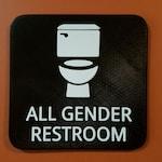All Gender Bathroom Restroom Sign