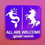 Mermaid Unicorn Bathroom Sign Whatever Just Wash Your Hands Gender Neutral Restroom