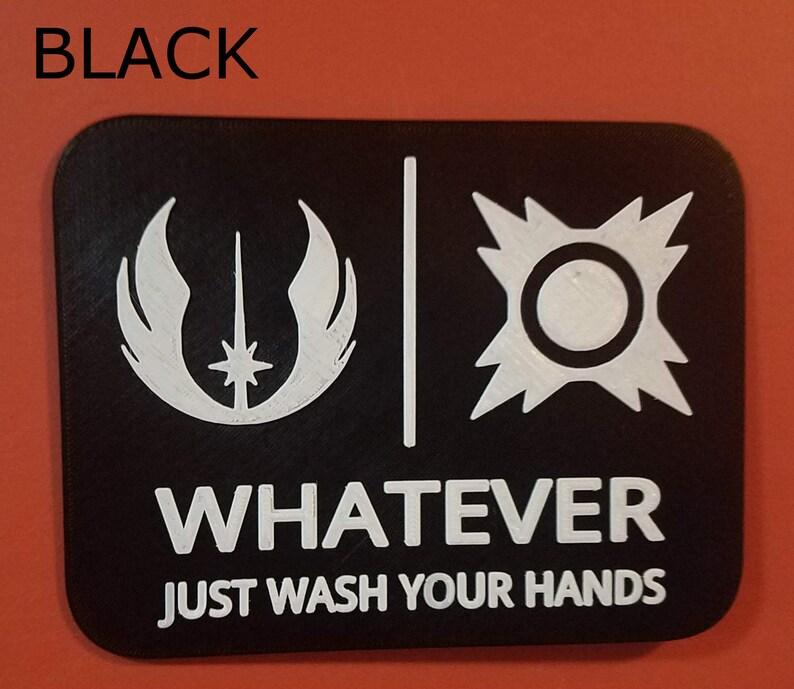 Jedi Sith Star Wars Gender Neutral Bathroom Restroom Sign image 0