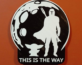 Mandalorian Star Wars Bathroom Sign This Is The Way Home Decor