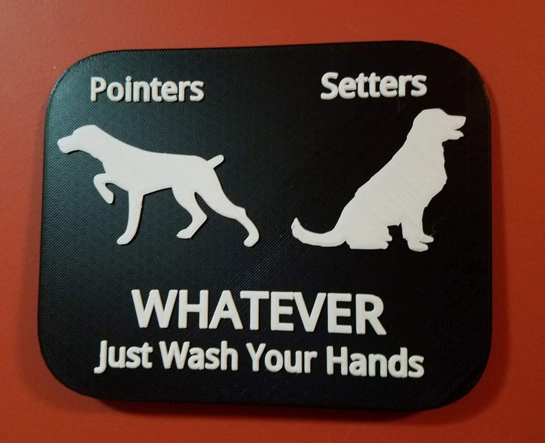 Gender Neutral Pointers Setters Whatever Just Wash Your Hands Black