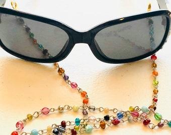 tassel necklace eyeglass holder eyeglass chain Boot bling long Beaded tassel necklace seed bead necklace Bohemian necklace eyeglass chains