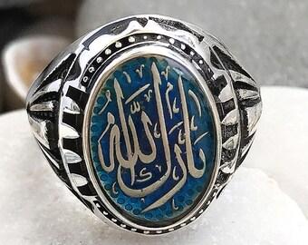Israel Palestine Islamic intifada al-aqsa Mosque 925 Sterling Silver black Ring