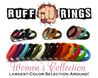 Silicone Rings For Women / Silicone Wedding Band Ring - Gym/Beach/Sports/Active Womens Silicone Wedding Rings / Personalized Custom Rings