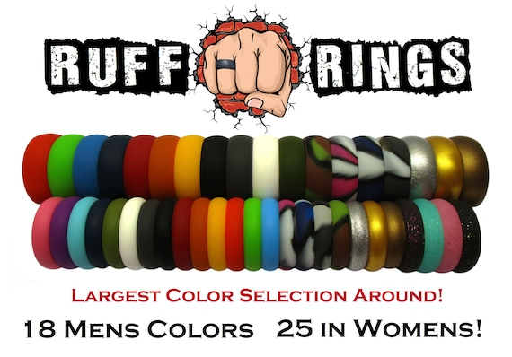 Hypoallergenic Comfortable Safety Rubber Ring Rubber Wedding Band Ideal Silicone Wedding Ring Gift for Him Her TUF Silicone Ring for Women Men Unisex Sturdy Exercise Ring Medical Grade