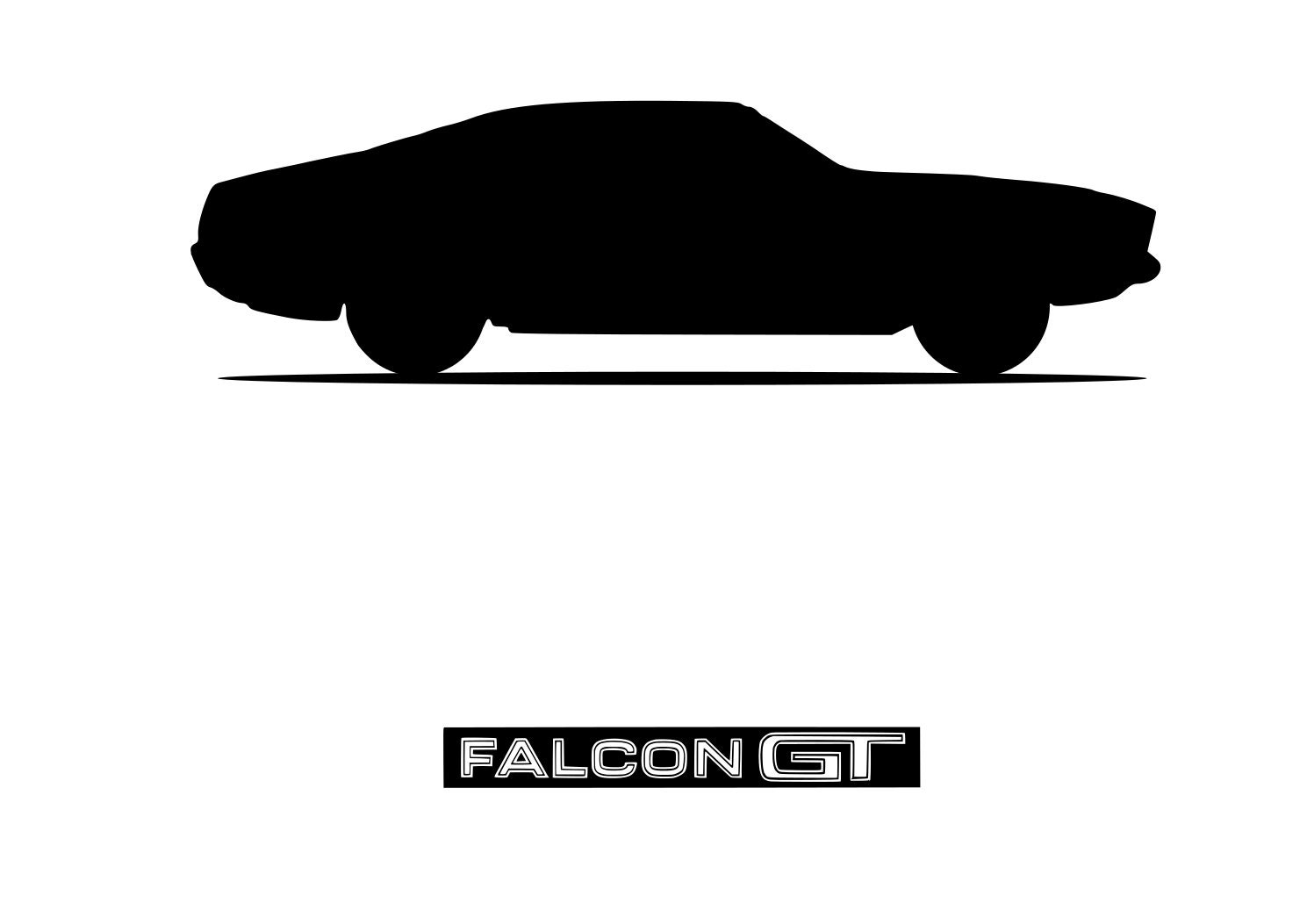 .Png Ford Mustang 60s Car Silhouette Vector .PDF .SVG