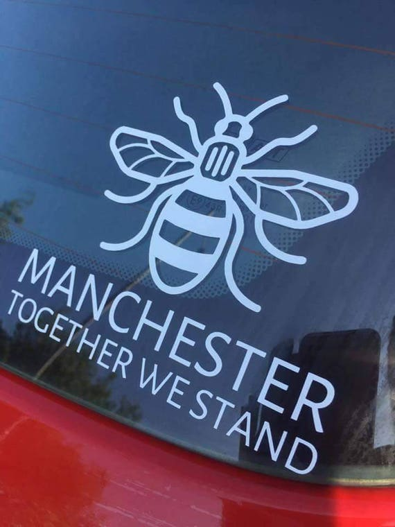 Manchester bee car decal sticker in support of the victims