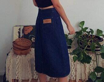 RM Williams Vintage Denim Midi Skirt