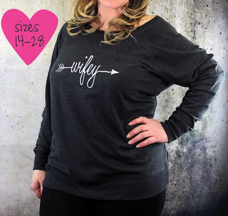2d5c9314 Plus size wifey shirt plus size graphic tees trendy plus | Etsy