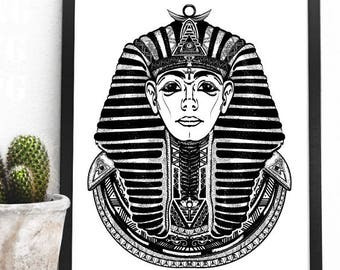 eacf4d9ca Pharaoh svg Pharaoh tattoo art, Egypt pharaoh. Great king ancient Egypt.  Tutankhamen. Egyptian golden pharaohs mask vector Svg Png Jpg
