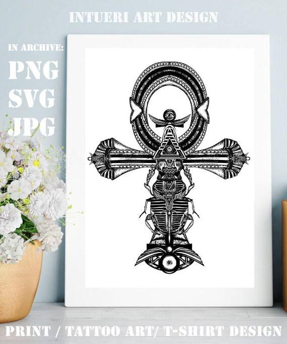 Ankh Svg Ankh Tattoo Ancient Egyptian Cross T Shirt Design Etsy